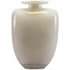 Midcentury White Murano Glass Vase