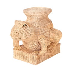 Midcentury Wicker Frog Stand or Seat