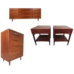 Midcentury Widdicomb Bedroom Set in the Style George Nakashima