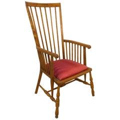 Midcentury Windsor Armchair Elm Chair, circa 1950