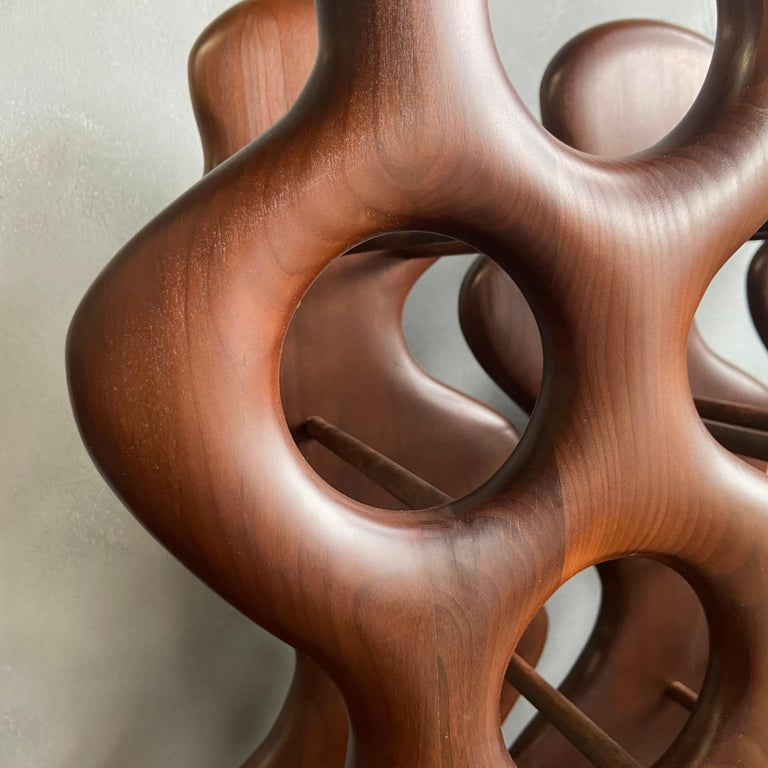 Midcentury Wine Racks by Dean Santner In Excellent Condition For Sale In BROOKLYN, NY