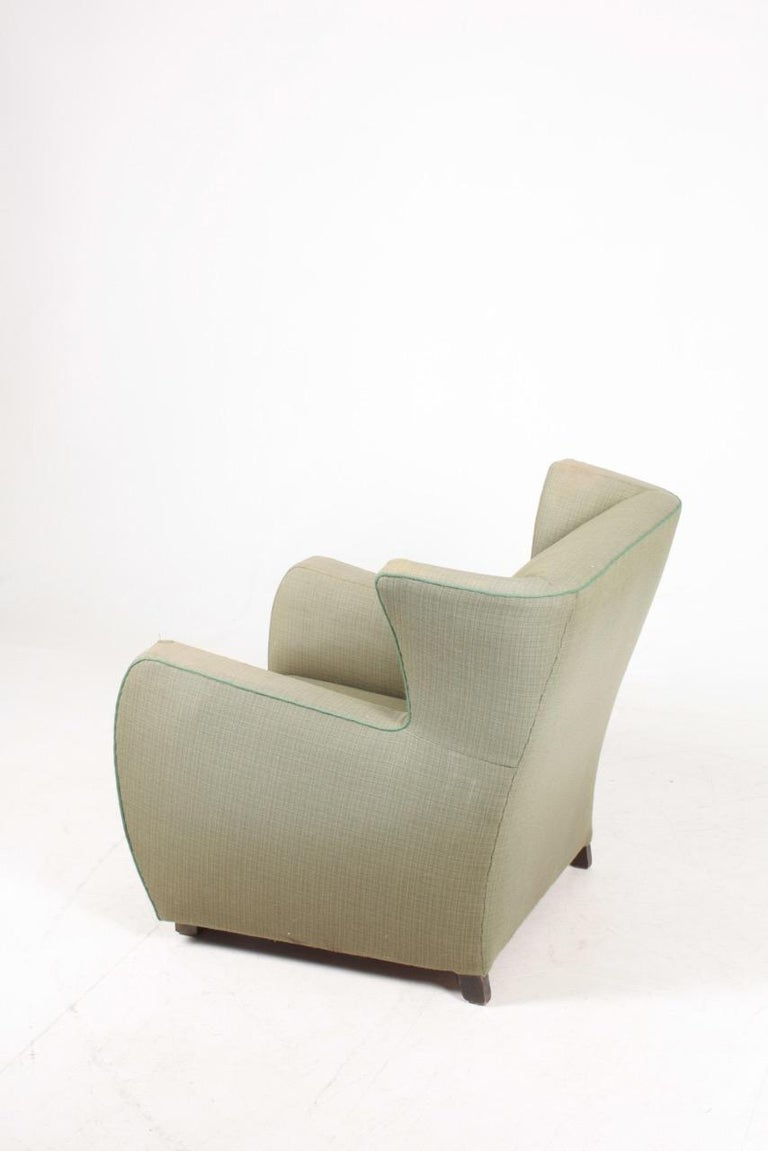 Mid-20th Century Midcentury Wingback Chair, 1940s For Sale