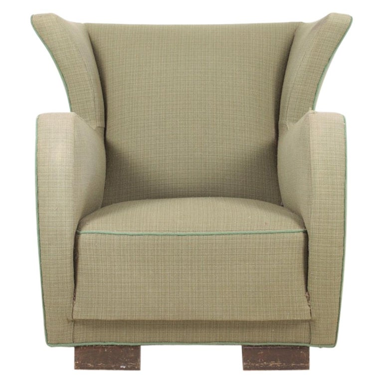 Midcentury Wingback Chair, 1940s For Sale