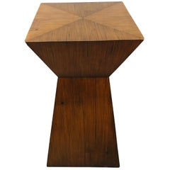 Midcentury Wood Accent Table/ Pedestal