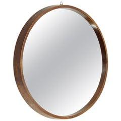 Midcentury Wood Frame Italian Mirror, 1950s