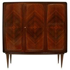 Midcentury Wood Italian Bar Cabinet, Italy, 1950