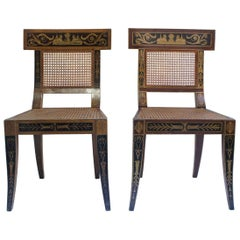 Midcentury Wood Revival Klismos Chair in the Manner of Benjamin Latrobe, 1950s