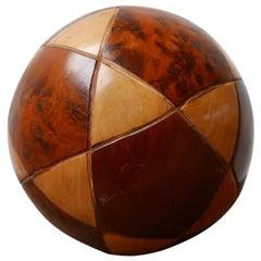 Midcentury Wooden Ball Desk Curio