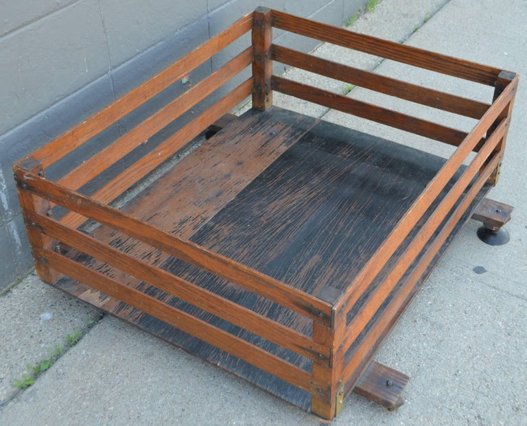 Mid-Century Modern Midcentury Wooden Cartop Rack and Luggage Carrier For Sale