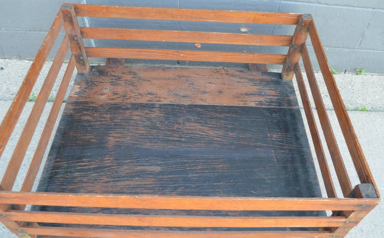 Midcentury Wooden Cartop Rack and Luggage Carrier In Good Condition For Sale In Madison, WI