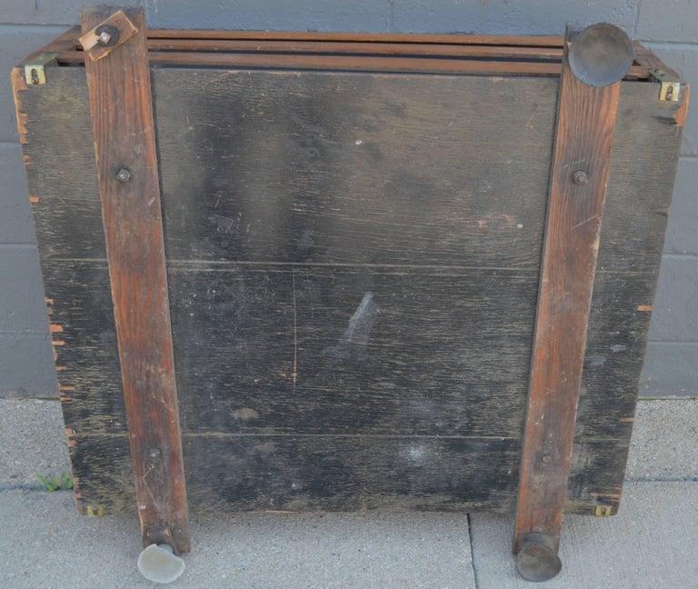 Rubber Midcentury Wooden Cartop Rack and Luggage Carrier For Sale