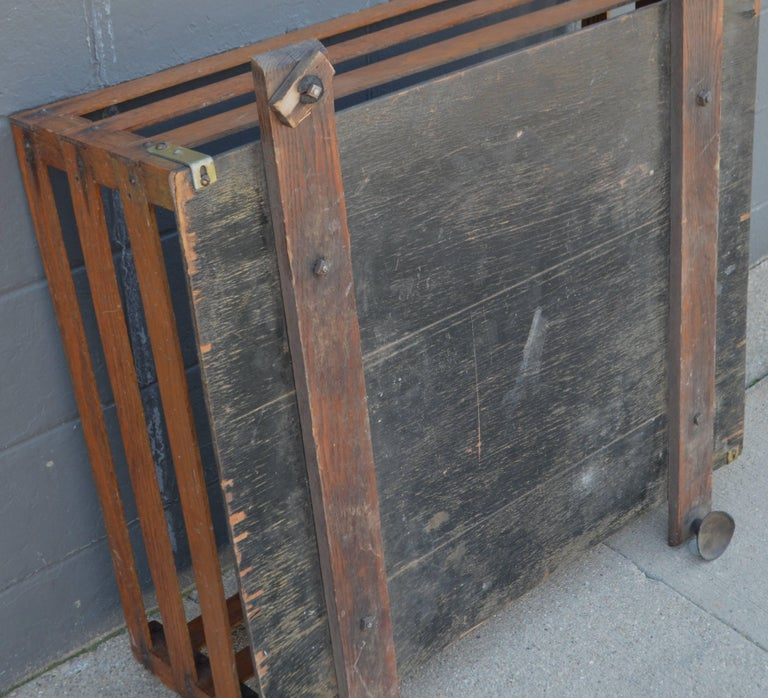 Midcentury Wooden Cartop Rack and Luggage Carrier For Sale 1