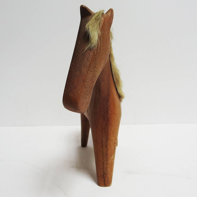 Mid-20th Century Midcentury Wooden Horse Sculpture by Hagenauer For Sale