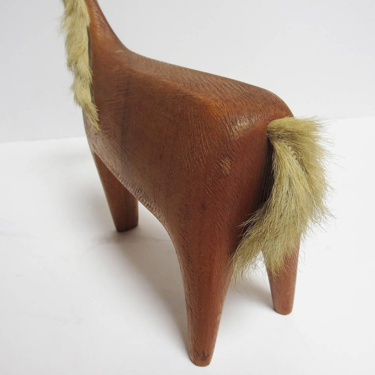 Midcentury Wooden Horse Sculpture by Hagenauer For Sale 2