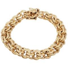 Midcentury Yellow Gold Fancy Link Bracelet