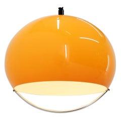 Midcentury Yellow Pendant Meblo Designed by Harvey Guzzini, 1970s