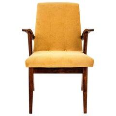 Midcentury Yellow Retro Armchair
