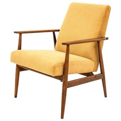 Midcentury Yellow Retro Armchairs 300-190 by H. Lis