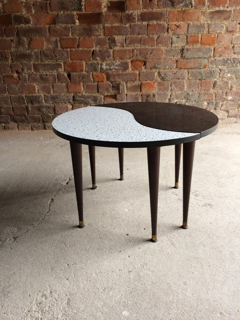 Mid-Century Modern Midcentury Yin and Yang Tripod Occasional Table, circa 1950s  For Sale