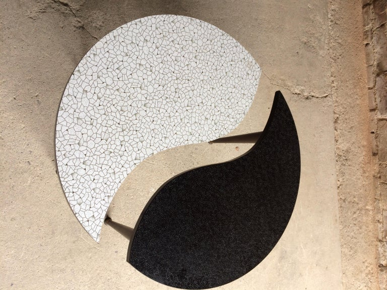 Mid-20th Century Midcentury Yin and Yang Tripod Occasional Table, circa 1950s  For Sale