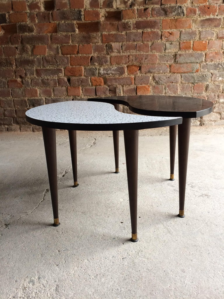 Formica Midcentury Yin and Yang Tripod Occasional Table, circa 1950s  For Sale