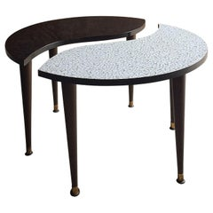 Midcentury Yin and Yang Tripod Occasional Table, circa 1950s