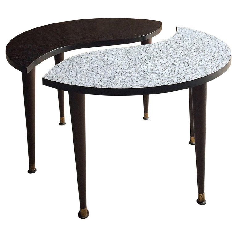 Midcentury Yin and Yang Tripod Occasional Table, circa 1950s  For Sale
