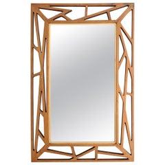 """Midcentury Yngve Ekström Mirror """"Konkret"""" by Eden Spegel in Sweden"""