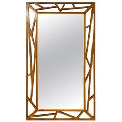 "Midcentury Yngve Ekström Rare Large Mirror ""Konkret"" by Eden Spegel in Sweden"