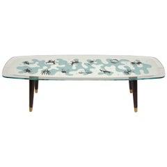 Midcentury Zodiac Glass Top Table