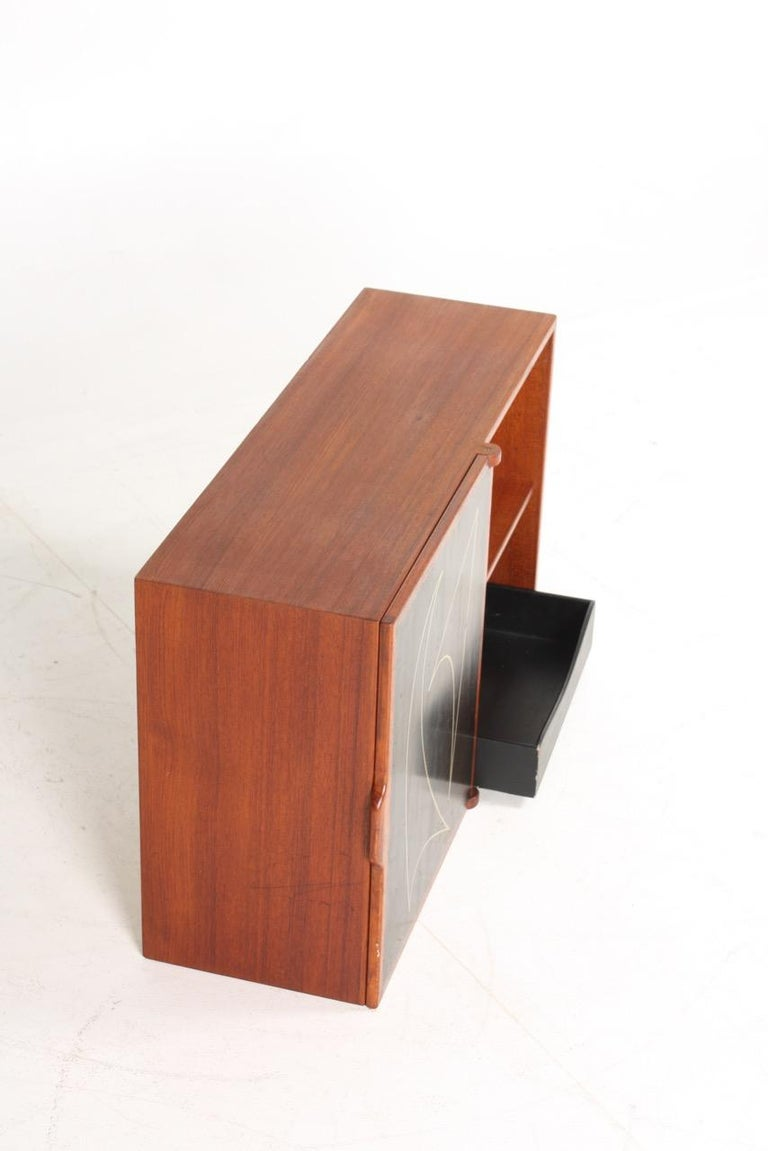 Scandinavian Modern Midcuntury Call Cabinet in Teak, Made in Denmark, 1950s For Sale
