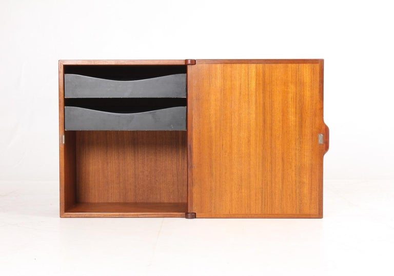 Mid-20th Century Midcuntury Call Cabinet in Teak, Made in Denmark, 1950s For Sale