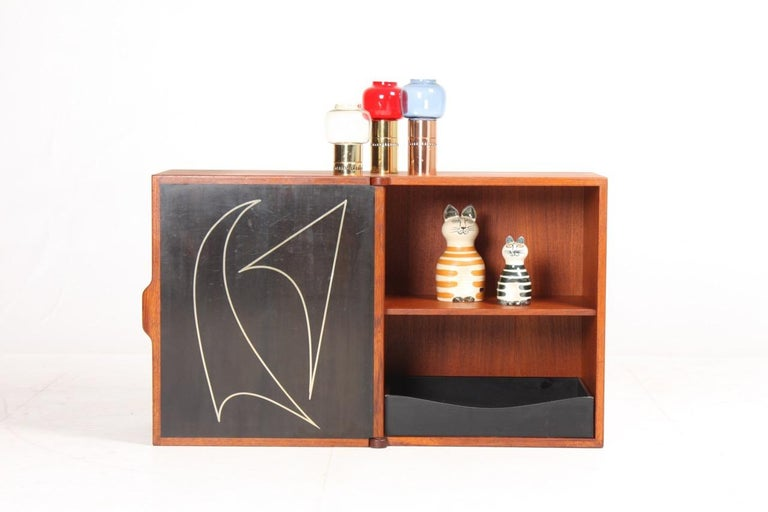 Midcuntury Call Cabinet in Teak, Made in Denmark, 1950s For Sale 2