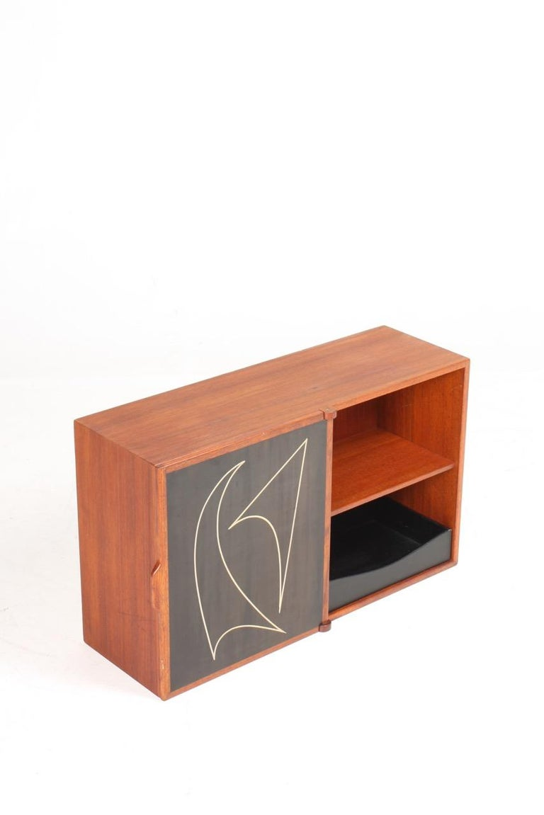 Midcuntury Call Cabinet in Teak, Made in Denmark, 1950s For Sale 3