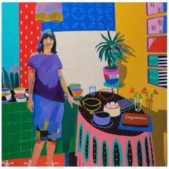 'Middle Age Spread' Portrait Painting by Alan Fears Pop Art Figurative