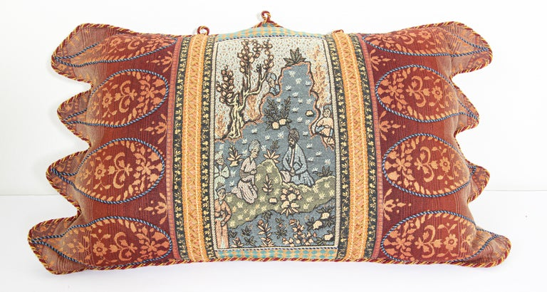 Louis XV Middle Eastern Decorative Throw Pillow For Sale