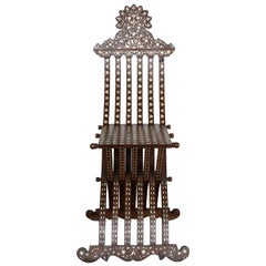 Middle Eastern Folding Chair with Inlay