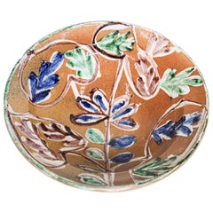 Moorish Spanish Pottery Glazed Talavera Bowl
