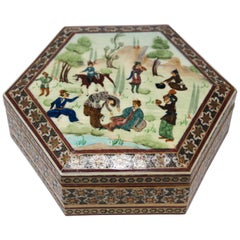 Middle Eastern Khatam Micro Mosaic Wooden Box