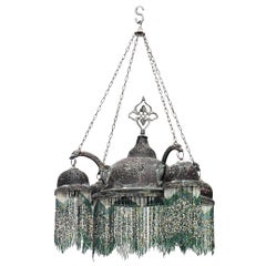 Middle Eastern Moorish Style Filigree Chandelier