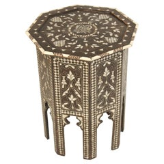 Middle Eastern Mother of Pearl Inlaid Occasional Table