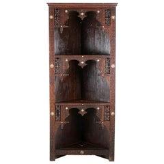 Middle Eastern or Moorish Open Corner Cupboard