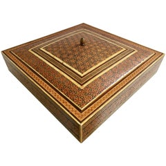 Middle Eastern Persian Micro Mosaic Inlaid Jewelry Box