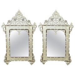 Middle-Eastern Style Bone & Mother-of-Pearl Inlay Mirrors
