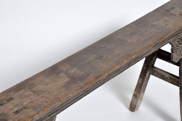 19th Century Middle Qing Dynasty Chinese Bench Century For Sale