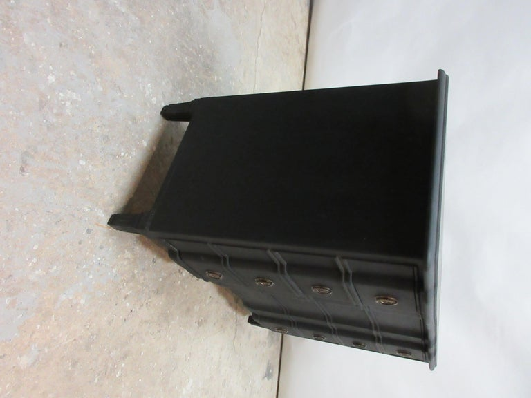 Mid-20th Century Midnight Black Gustavian Style Chest For Sale