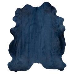 Midnight Blue Genuine European Large Cowhide Rug