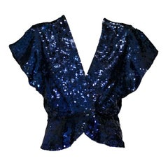 Midnight Blue Sequinned Evening Jacket, 1930s