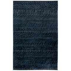 Midnight Hand Knotted Wool Rug