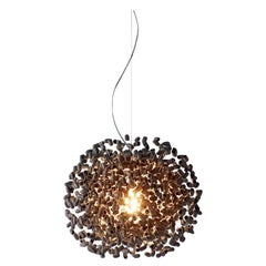Midnight Moon by Ango, Silk Cocoon Pendant Lamp Especially Suited to Dining Area